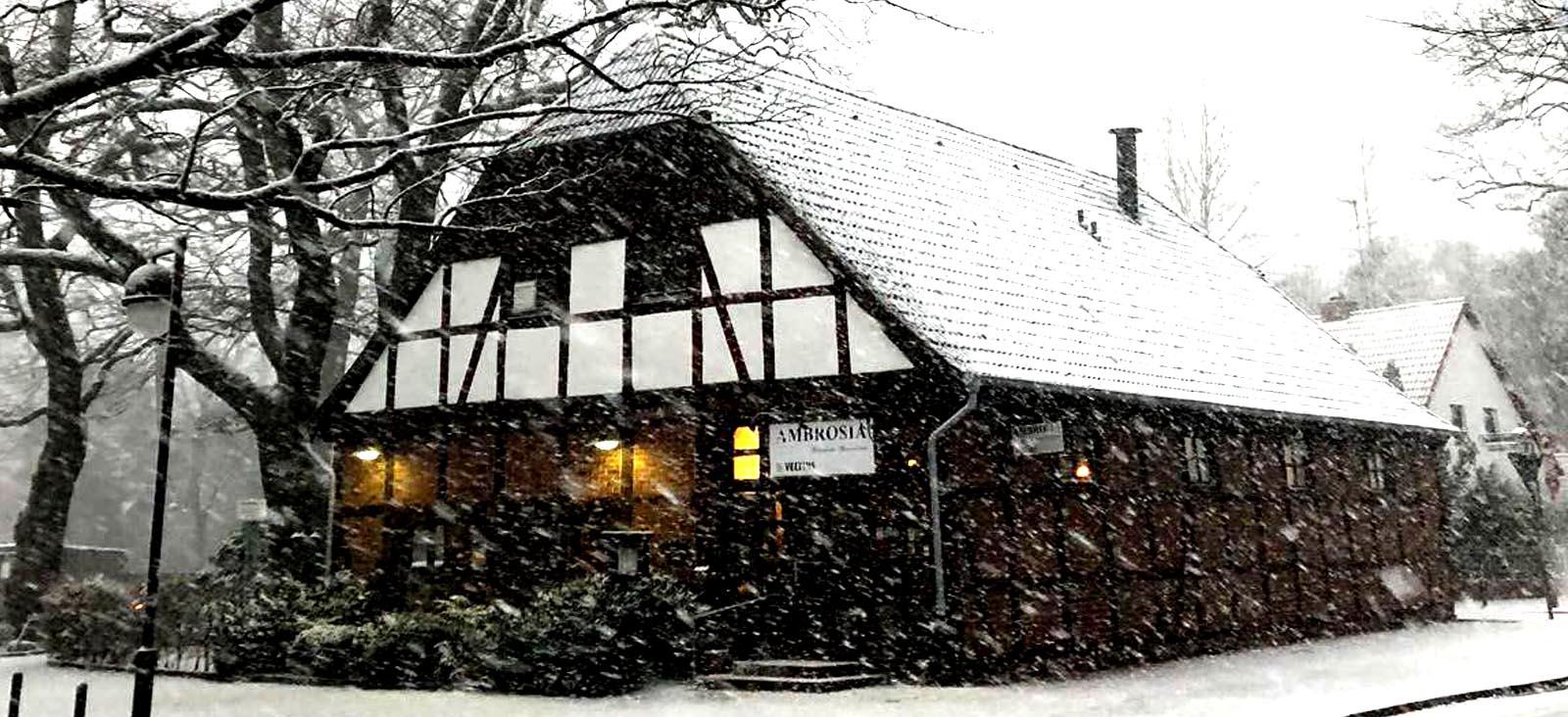 Restaurant Ambrosia Winterstimmung